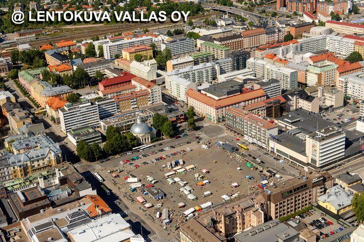Turku, kauppatori Ilmakuva: Lentokuva Vallas Oy