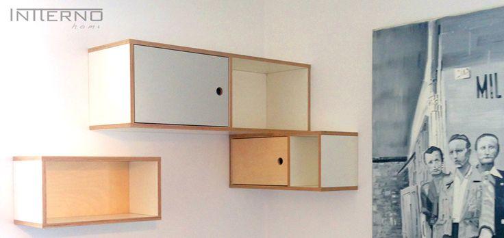 szafka ze sklejki Intterno plywood furniture  #intterno #plywoodshelves