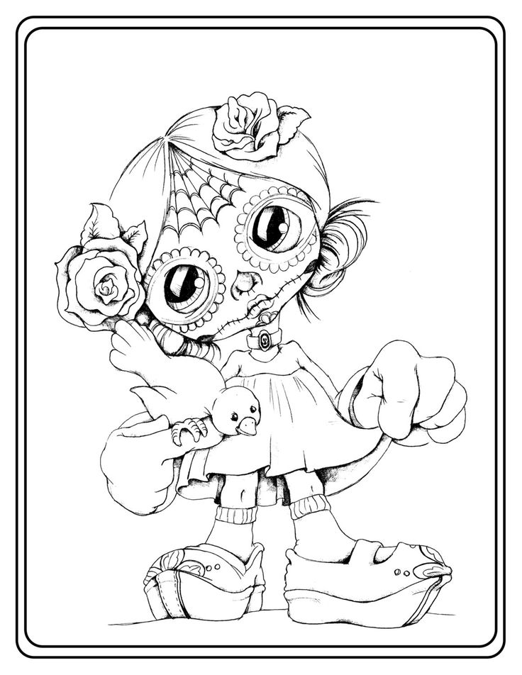 calavera catrina coloring pages - photo#9