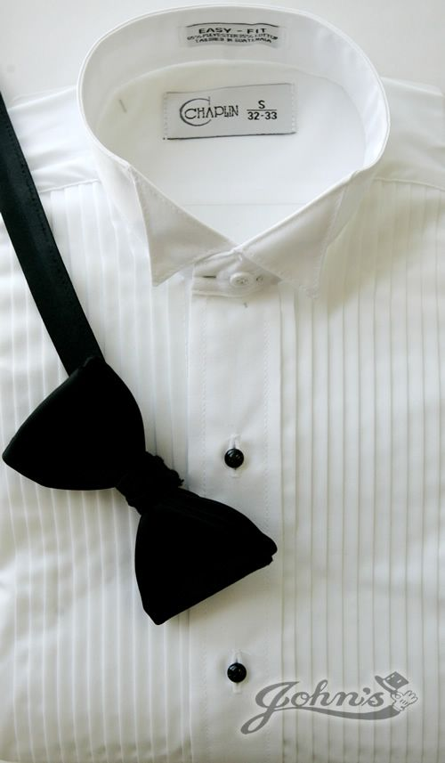White Microfiber Wing Tip Collar Shirt