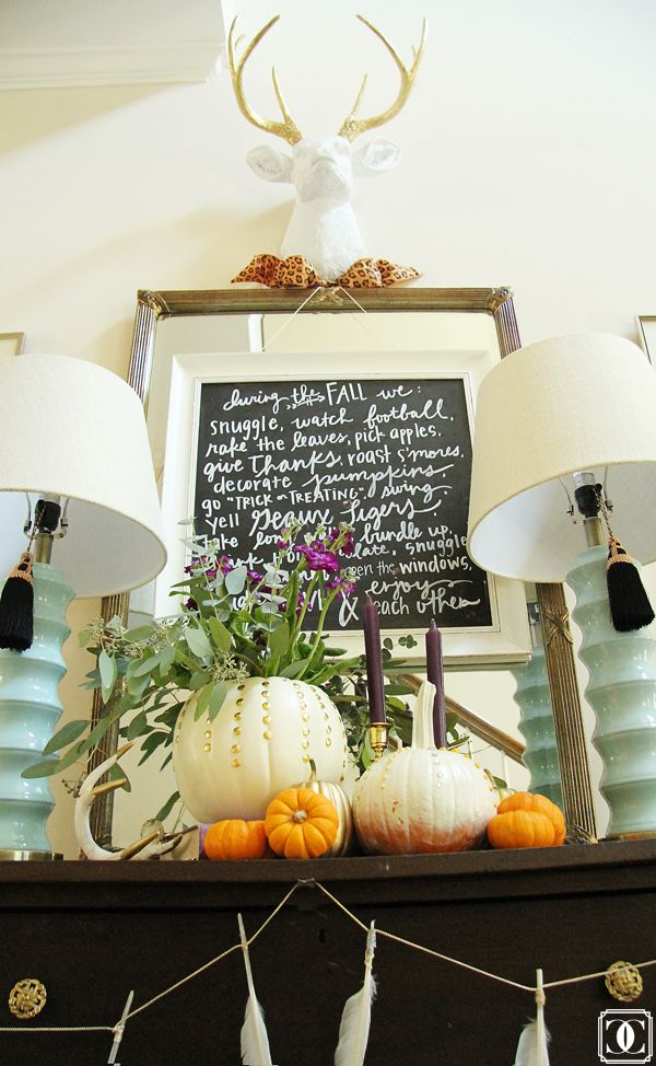 Blogger Stylin' Home Tours: Fall 2014 Edition Bold + Bright Fall Home Tour Inspired by Jewel Tones and Gold via: www.charmingincharlotte.blogspot.com