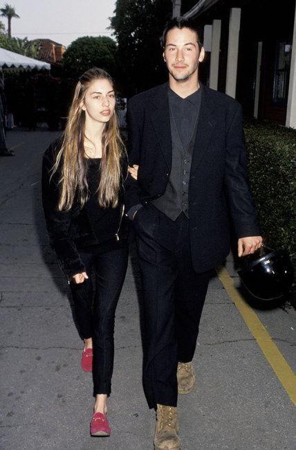 Sofia Coppola & Keanu Reeves, 1992