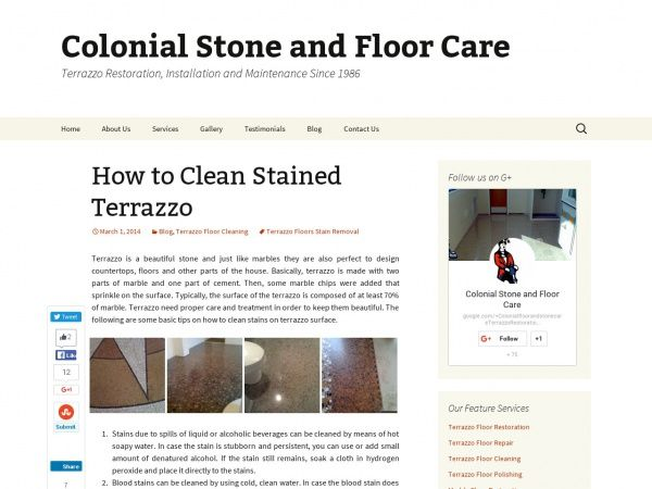 How to Clean Stained Terrazzo