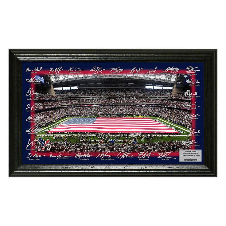 Officially Licensed NFL 2017 Signature Gridiron Print - Houston Texans