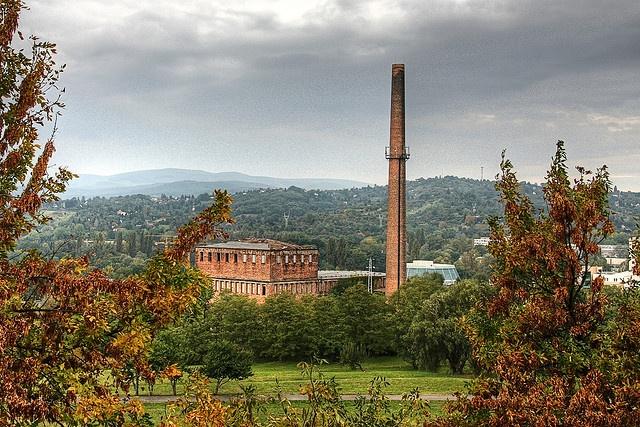 Old factory building, Avas, Miskolc, Hungary