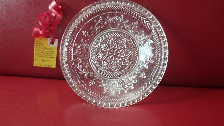 Henry Greener Plate, Sunderland, England. The Wear Flint Glass Works. Registry mark of July, 31, 1869.
