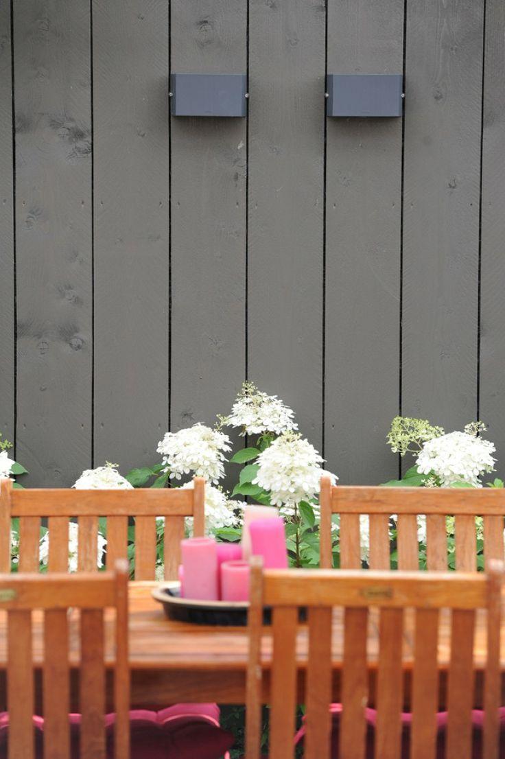 Verlichting   schutting   hortensia's   tuinset   kaarsen   www ...