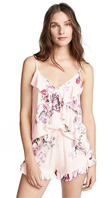 cf36341186 Floral Printed PJ s + Women s Pajamas and Sleepwear + Romper ...