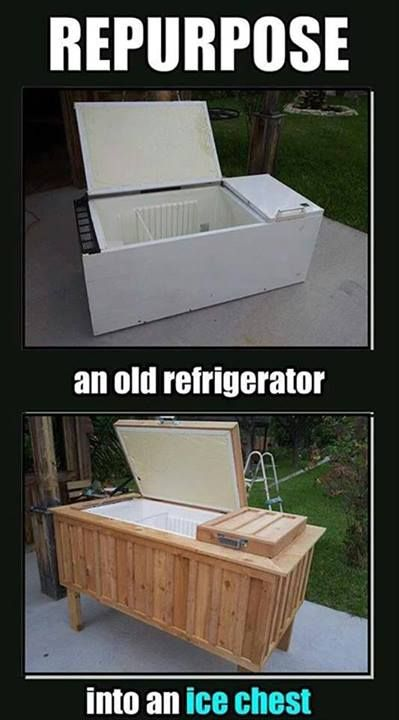 repurposed fridge, great idea!!