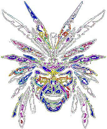 potisk, originální motiv na tričko,T-ART.CZ, psychedelic aztec indian art design t-shirt