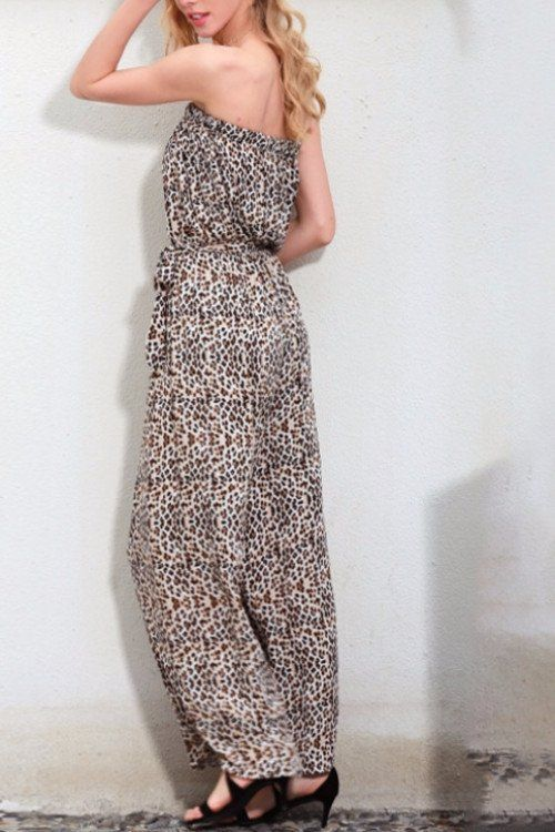 Bandeau Animal Print Jumpsuit – BEHIND HEMLINES