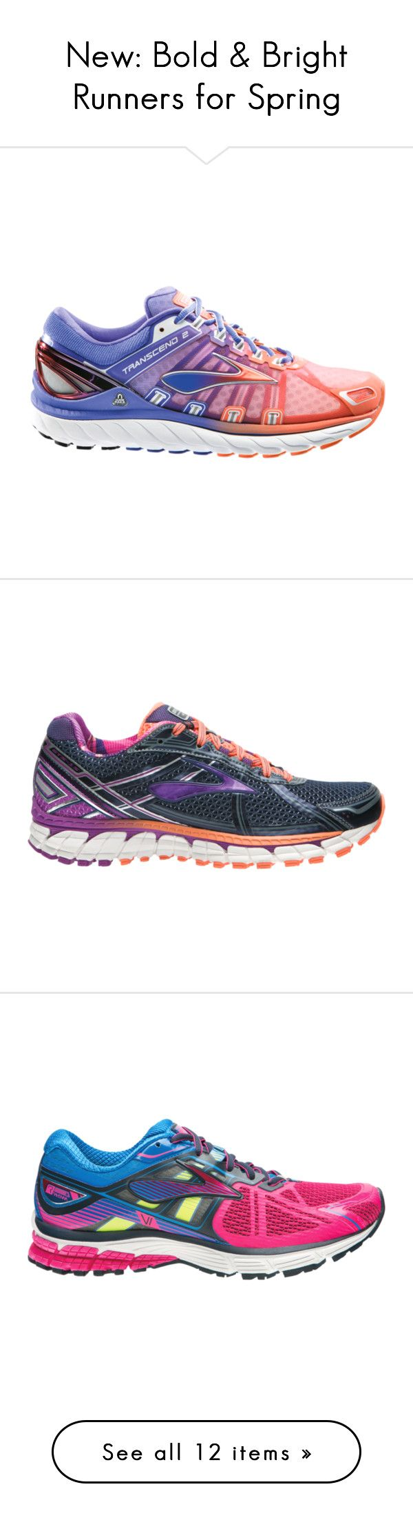 """""""New: Bold & Bright Runners for Spring"""" by shoeme ❤ liked on Polyvore featuring shoes, athletic shoes, athletic footwear, mesh running shoes, brooks athletic shoes, athletic running shoes, brooks footwear, cushioned running shoes, brooks shoes and light weight running shoes"""