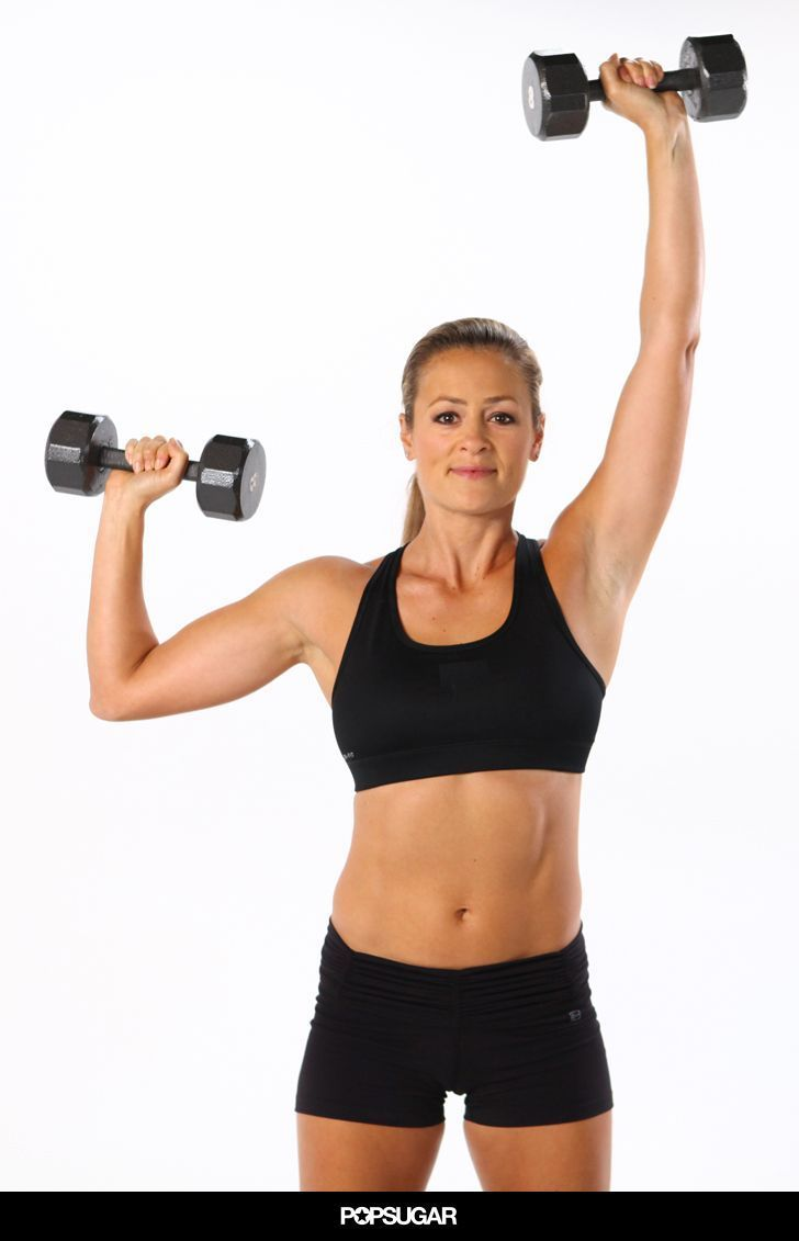 Grab a set of dumbbells, and get ready to work those arms to tighten and tone the biceps and triceps, while sculpting shapely shoulders, too - 10 minutes