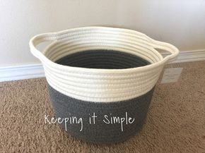 Keeping it Simple: DIY No Sew Yellow Rope Baskets