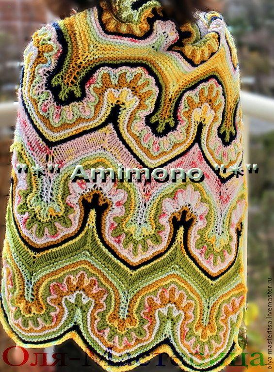 """Купить Мастер-класс многоцветное вязание спицами """"Турецкая волна"""" - схема вязания, вязать спицами"""