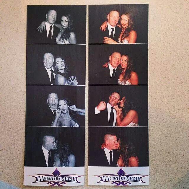 Nikki Bella & John Cena's photobooth from Brie & Bryan's wedding! Sooo cute!!