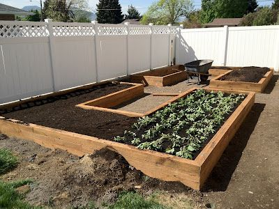 How to build your own garden boxes. It is more complicated to level the ground than to build the garden boxes.