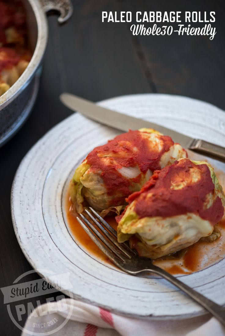 Paleo Cabbage Rolls Recipe | stupideasypaleo.com #paleo #whole30 #realfood