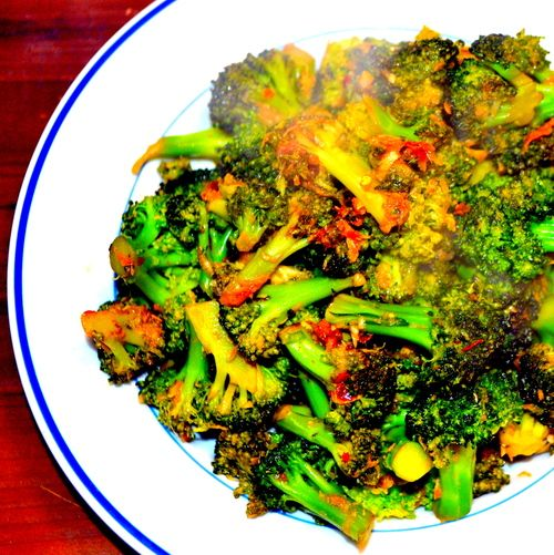 ginger miso chinese broccoli with garlicy ginger miso recipe chinese ...