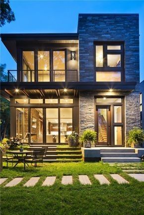 Moderne Steinhaus-Design-Pläne – Kouta Sonza