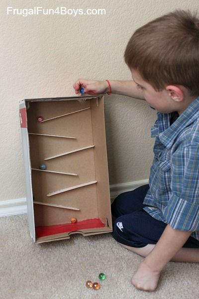Marble Toys For Boys : Build a marble run with craft sticks boys