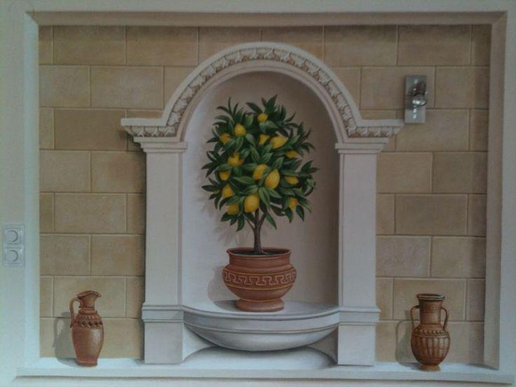 wandmalerei kunstmaler herbert blaas wandmalerei. Black Bedroom Furniture Sets. Home Design Ideas