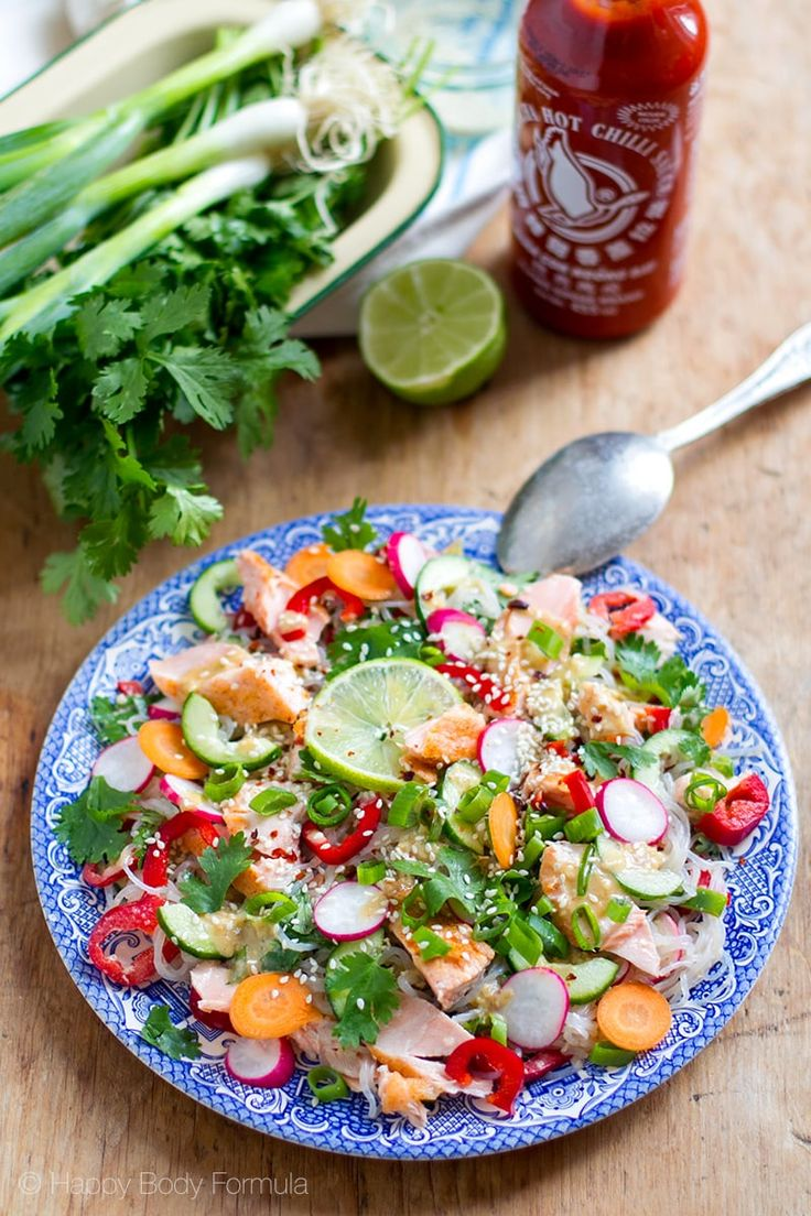 one of these tasty salad recipes see more crispy chicken thai salad ...