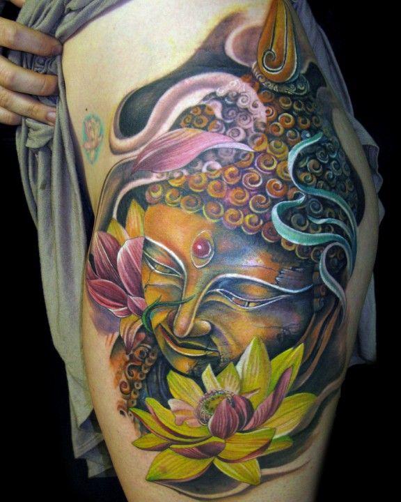 Buddha Hat Tattoo by Tony Mancia