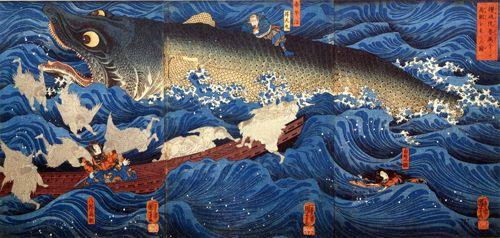 """坂井直樹の""""デザインの深読み"""": 「髑髏と入れ墨」を好んで描いた国芳は江戸っ子パンクだ。「髑髏と入れ墨」は今もグローバルなアウトローの象徴として生き続けている。"""