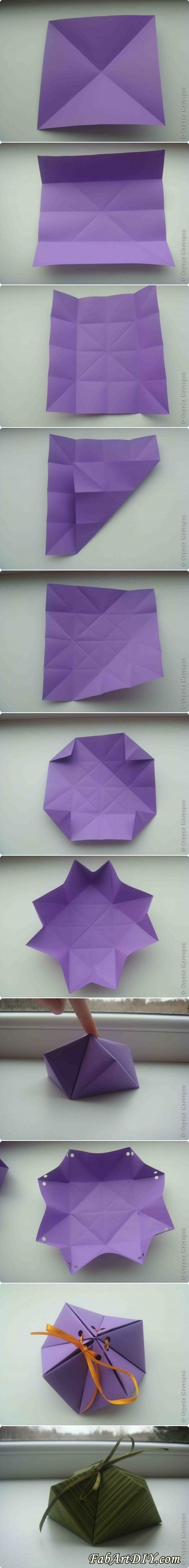 Paper Gift Box DIY | www.FabArtDIY.com LIKE Us on Facebook ==> https://www.facebook.com/FabArtDIY
