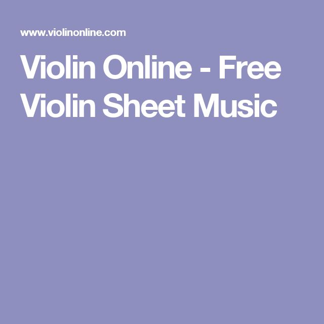 Violin Online - Free Violin Sheet Music