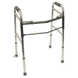 "Bariatric Two Button Release Aluminum Walker - Walker - Model 565484 by Sammons Preston. $230.04. Model No.:-565484. This item may differ from the image shown. This item may be a replacement or optional part for the image shown,or differ in model,color, etc. Please review the title and features carefully.. Width between handles 20""; overall width 25"", folded 4"".. This Listing Is For Bariatric Two Button Release Aluminum Walker Only.. Size-Height adjusts 31""-36"" in ..."