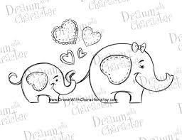 Image result for mother and baby elephant drawings