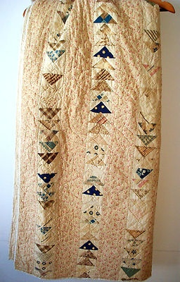 "Vintage Handmade Patchwork Quilt Pre 1900 Tan 78 5""X73"" | eBay, barbaran"