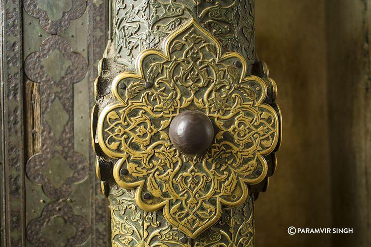 Details on a brass door knob at Bibi Ka Maqbara, Aurangabad, Maharashtra, India.  #history #architecture #india #mughal