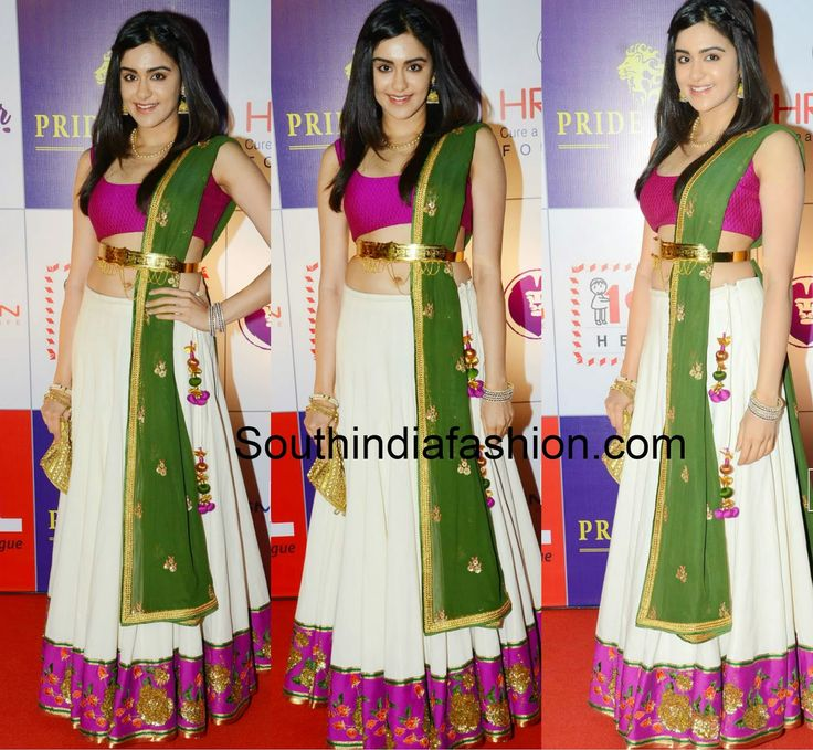 Actress Adah Sharma wearing a Lehenga from Shilpa Reddy's India Fashion Week collection