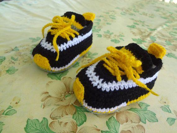 crochet scarpe da ginnastica bambino crochet di Babiesbootyfuls