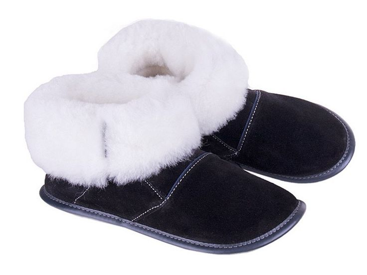 Men's & Ladies Sheepskin Slippers High-cut 2 tone with ultra durable…