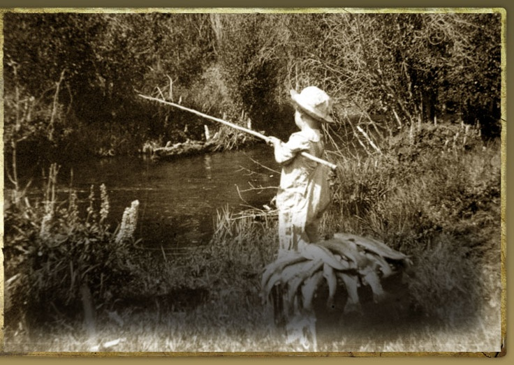 My home, Camp Sherman, in 1910.  No fish limit in 1910!: Rivers Camps Sherman, Metolius Rivers Camps