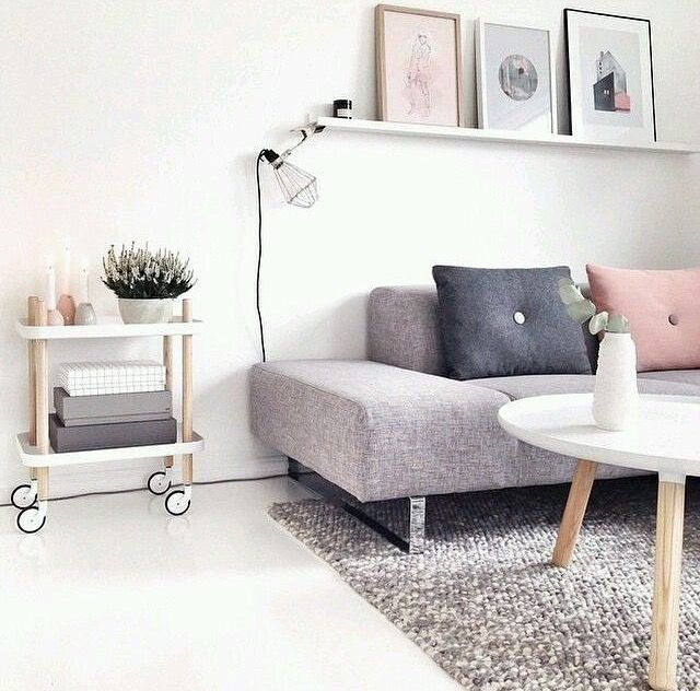 pink and grey cushions and matching posters