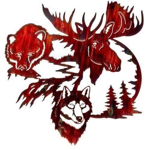 Land of the Midnight Sun Wildlife Metal Wall Art