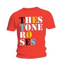Stone Roses Men's Tee: Font Logo Red