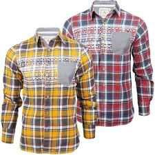 """Camicia Da Uomo Brave Soul """"Lancelot"""" Scacchi Stampa Azteca/Nordica Man. Lunghe"""
