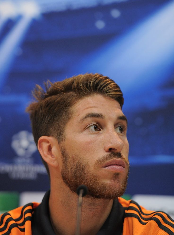 Sergio Ramos Photos Photos - Sergio Ramos of Real Madrid holds a joint press conference with Real head coach Carlo Ancelotti ahead of the Real Madrid v FC Kebenhavn Champions League Group B match at Valdebebas training ground on October 1, 2013 in Madrid, Spain. - Real Madrid Training Session