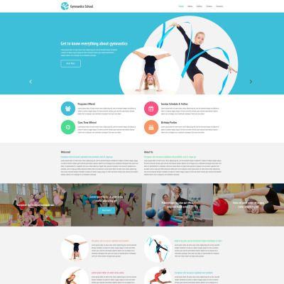 Gymnastics School Responsive Website Theme