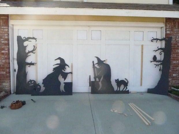 59 best Escaparate helloween images on Pinterest Halloween prop - halloween garage ideas