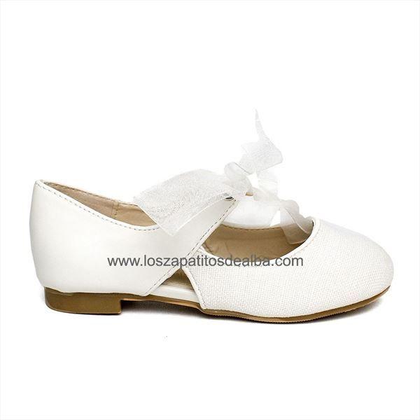 Zapatos niña ceremonia blanco modelo Clara
