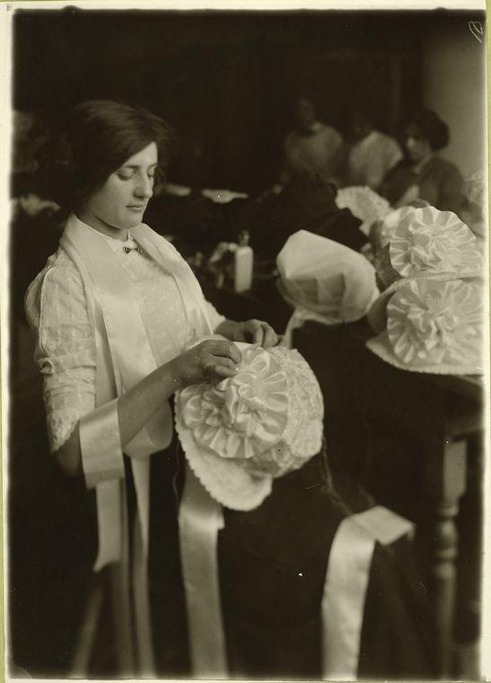 New York City Hat Maker, circa 1907.  Source: New York Public Library.
