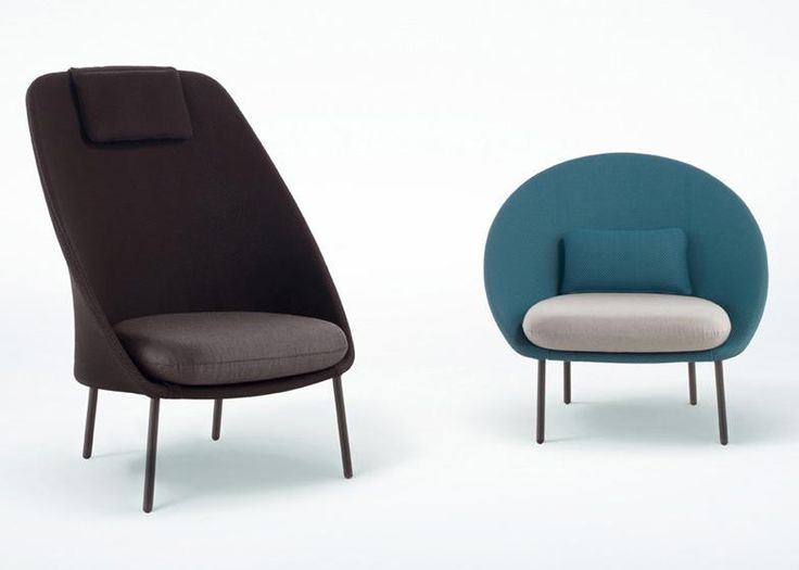 A pair of chairs designed to look like masculine and feminine versions of the same seat: http://www.dezeen.com/2015/01/25/mut-design-expormim-outdoor-chairs-twins-male-female/ …