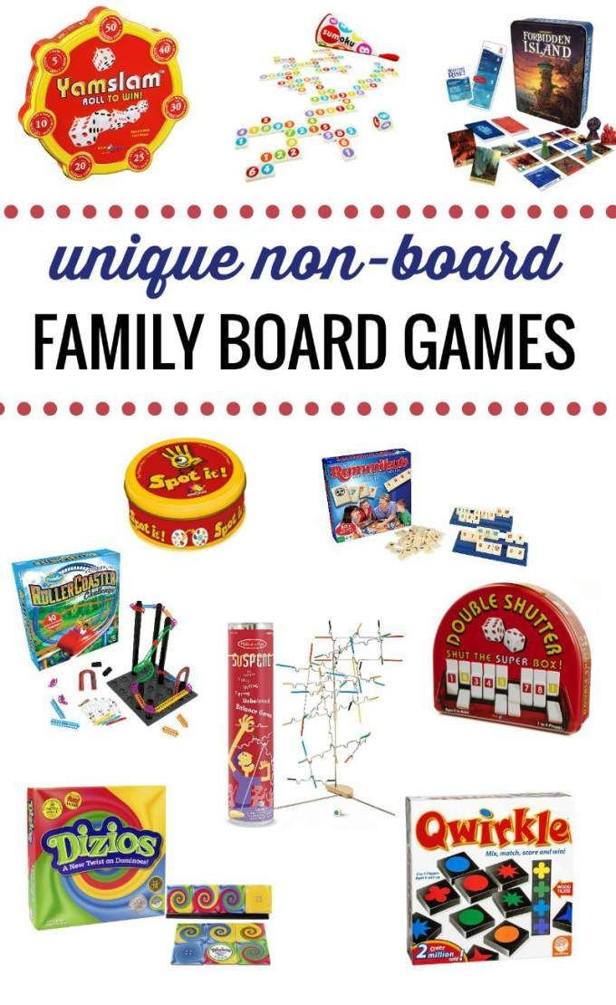 Family Games That Don T Use A Traditional Board But Play Like Board Games No Board Board Games Board Games For Kids Best Family Board Games Family Games